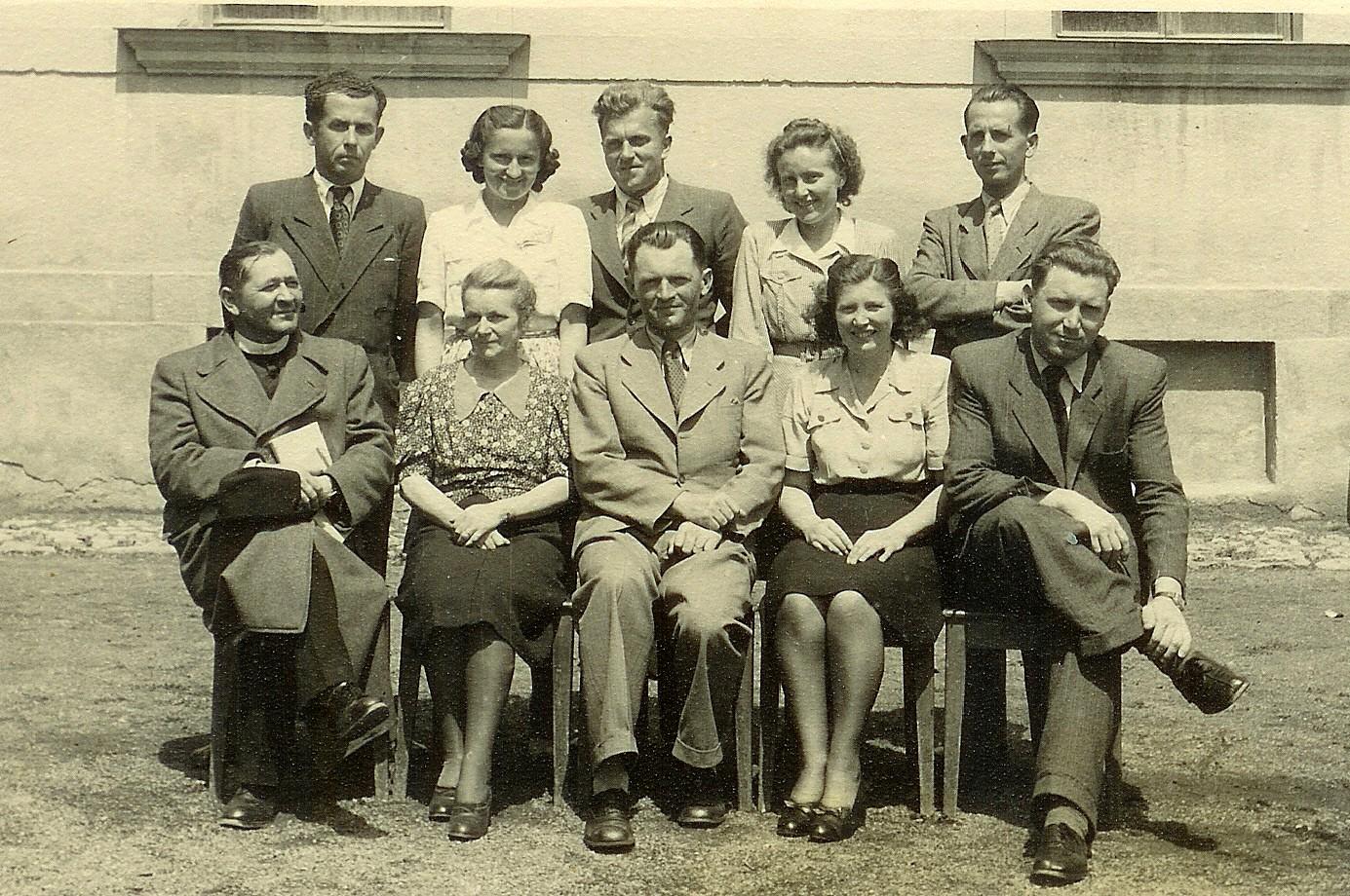 Učiteľský zbor, Štátnej meštianskej školy v Dobšinej 1946
