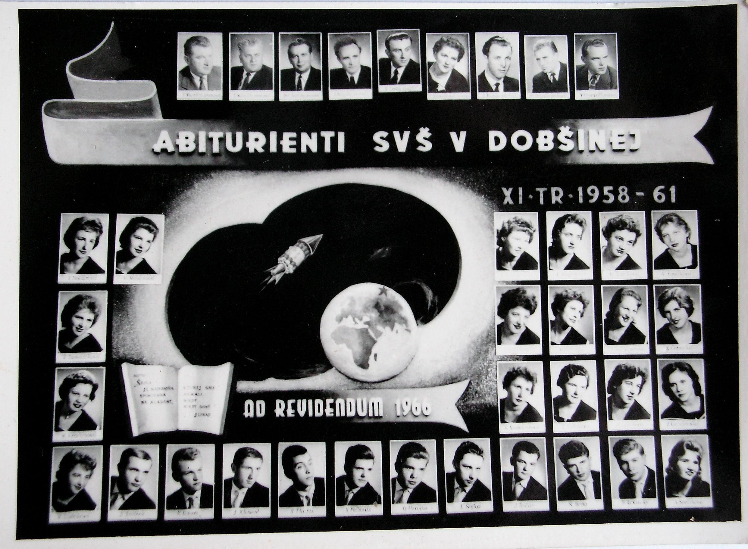 Abiturienti SVŠ v Dobšinej  - 1958 - 1961